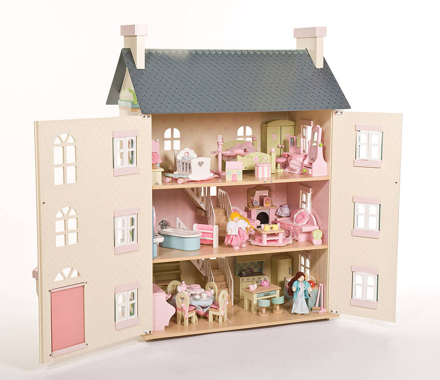 Toys For House : Cherry tree hall dolls house with furniture kids toy box