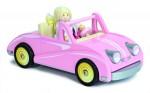 pink wooden dolls car