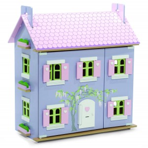 lavender dolls house closed