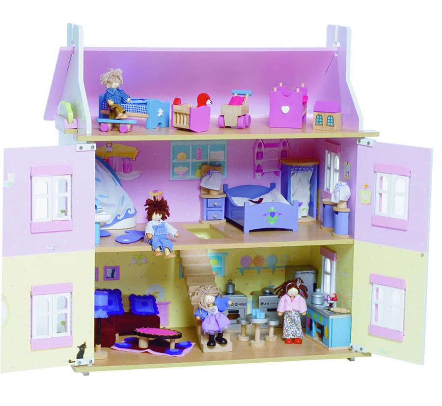 lavender dolls house open