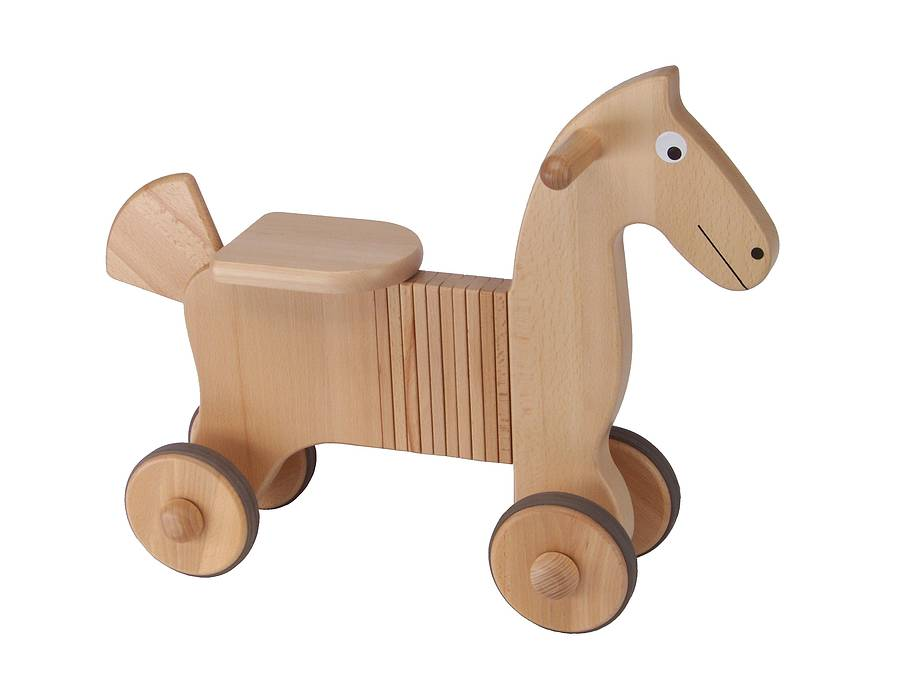 wooden ride-on horse