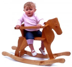 junior wooden rocking horse