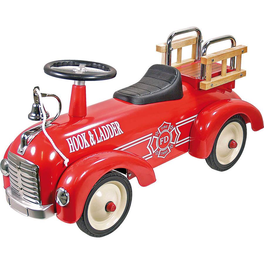 ride-on fire engine metal speedster