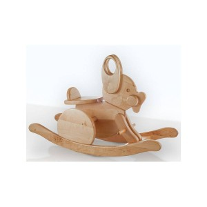 wooden rocking rabbit