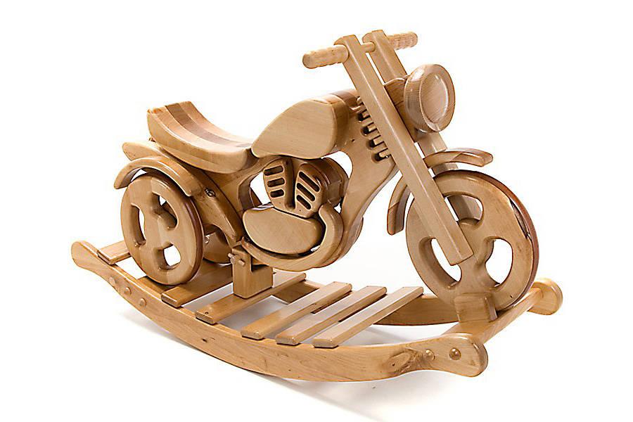 wooden rocking bike