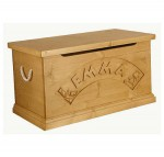 Personalised solid wooden toy box